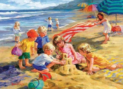 Eurographics Fun in the Sun by Corinne Hartley (Small Box) Jigsaw Puzzle
