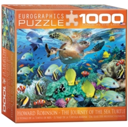 Eurographics Sea Turtle Journey by Howard Robinson (Small Box) Jigsaw Puzzle
