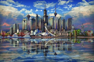 Ravensburger North American Skyline Jigsaw Puzzle
