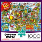 Cartoon Series: US Landmarks - 1000pc Jigsaw Puzzle by Buffalo Games