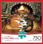 Buffalo Games Cats: Elmer and Loretta by Charles Wysocki Jigsaw Puzzle