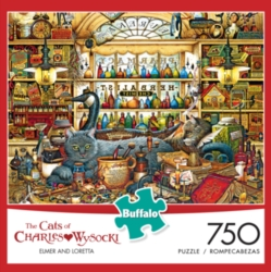 Buffalo Games Cats: All Burned Out by Charles Wysocki Jigsaw Puzzle