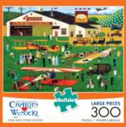 Buffalo Games Four Aces Flying School by Charles Wysocki Jigsaw Puzzle