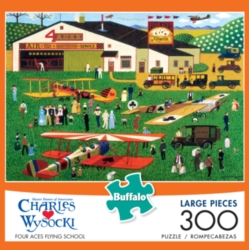 Buffalo Games Four Aces Flying School by Charles Wysocki Jigsaw Puzzle