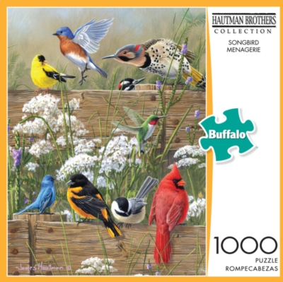 Buffalo Games Songbird Menagerie by Hautman Jigsaw Puzzle