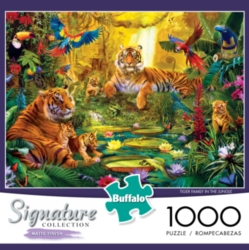 Buffalo Games Signature Collection: Tiger Family in the Jungle Jigsaw Puzzle