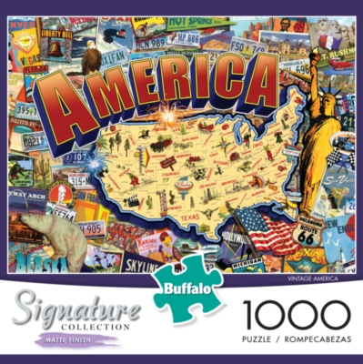 Buffalo Games Signature Collection: Vintage America Jigsaw Puzzle