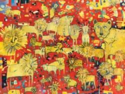 Pomegranate Beynette: Lions 300-piece Jigsaw Puzzle