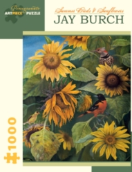 Pomegranate Burch: Summer Birds & Sunflowers 1000-piece Jigsaw Puzzle
