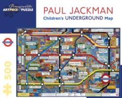 Pomegranate Children's Underground Map 500-piece Jigsaw Puzzle