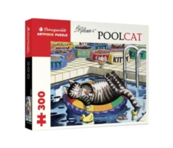 Pomegranate Kilban: Pool Cat 500-piece Jigsaw Puzzle
