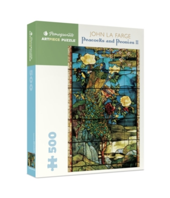 Pomegranate Lafarge: Peacocks & Ponies 500-piece Jigsaw Puzzle