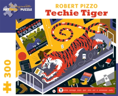 Pomegranate Pizzo: Techy Tiger 300-piece Jigsaw Puzzle