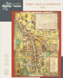 Pomegranate Street Map of Cambridge 1000-piece Jigsaw Puzzle