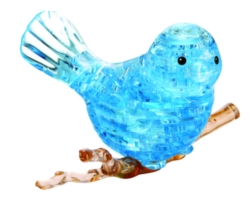 BePuzzled Bird Blue 3D Crystal Puzzle