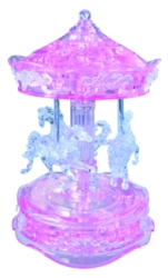 BePuzzled Carousel Pink 3D Crystal Puzzle