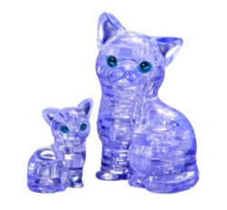 BePuzzled Cat & Kitten 3D Crystal Puzzle