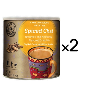Big Train Carb Conscious Chai Tea - 2 lb. Low Carb Can Case