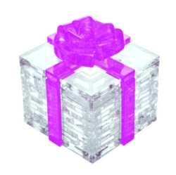 BePuzzled Gift Box Pink 3D Crystal Puzzle