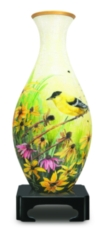 BePuzzled Gold Finches 3D Puzzle Vase