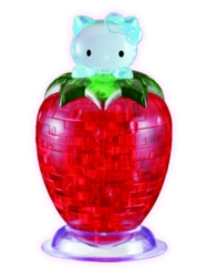 BePuzzled Hello Kitty Strawberry 3D Crystal Puzzle
