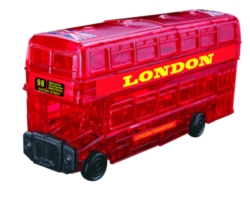 BePuzzled London Bus 3D Crystal Puzzle