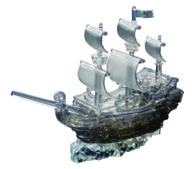 BePuzzled Pirate Ship Black 3D Crystal Puzzle