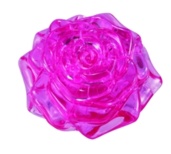 BePuzzled Rose Pink 3D Crystal Puzzle