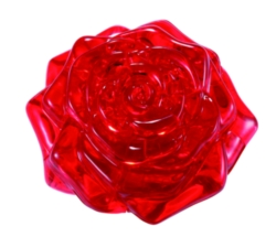 BePuzzled Rose Red 3D Crystal Puzzle