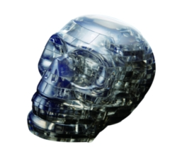 BePuzzled Skull Grey 3D Crystal Puzzle
