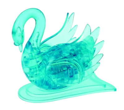 BePuzzled Swan Blue 3D Crystal Puzzle