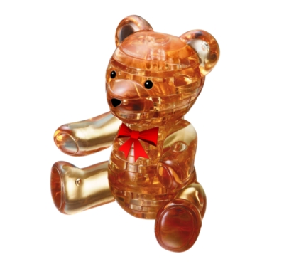 BePuzzled Teddy Bear Gold 3D Crystal Puzzle