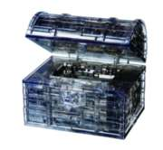 BePuzzled Treasure Chest Black 3D Crystal Puzzle