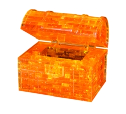BePuzzled Treasure Chest Gold 3D Crystal Puzzle