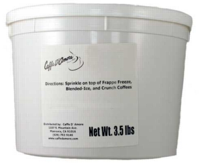 Caffe D'Amore Crunch Topping: Toasted Coconut Flakes - 3.5 lb. Bulk Tub