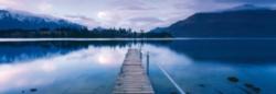 Schmidt Lake Wakatipu Panoramic Jigsaw Puzzle w/ Puzzle Glue