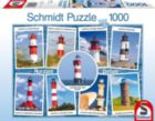 Lighthouses - 1000pc Jigsaw Puzzle by Schmidt