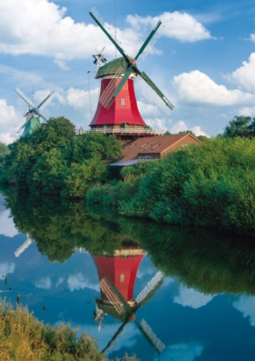 Schmidt Twin Windmills Jigsaw Puzzle