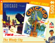 New York Puzzle Company Chicago Double-Sided Jigsaw Puzzle