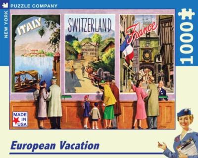New York Puzzle Company European Vacation Jigsaw Puzzle