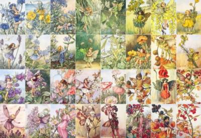 New York Puzzle Company Fairy Rainbow Jigsaw Puzzle