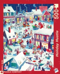 New York Puzzle Company Holiday Hustle Jigsaw Puzzle