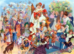 New York Puzzle Company King Santa Jigsaw Puzzle