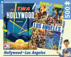 New York Puzzle Company Los Angeles Double-Sided Jigsaw Puzzle