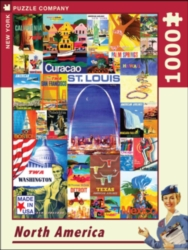New York Puzzle Company North American Tour Jigsaw Puzzle