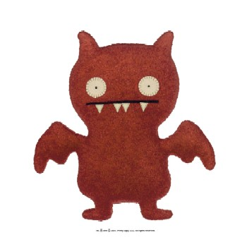 "Ice Bat Red - 7"" Little Ugly by Uglydoll"