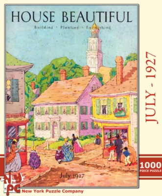 New York Puzzle Company Victorian Village Jigsaw Puzzle