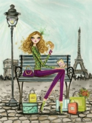 Andrews + Blaine Bella Pillar Shop Paris Jigsaw Puzzle