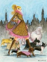 Andrews + Blaine Bella Pillar Dog Walk Jigsaw Puzzle