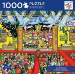 Andrews + Blaine Charles Fazzino Backstage Broadway Jigsaw Puzzle